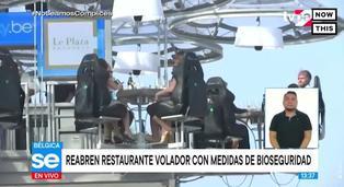 Bélgica reabre el famoso restaurante volador con medidas de bioseguridad