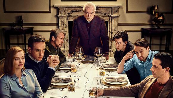 """El elenco de """"Succession"""" de HBO, serie  que de momento tiene dos temporadas. La serie volverá con una tercera tanda de episodios. Foto: HBO."""