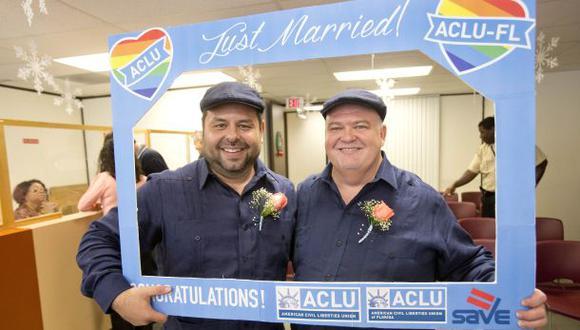 Apoyo al matrimonio homosexual en EEUU alcanza récord del 57%