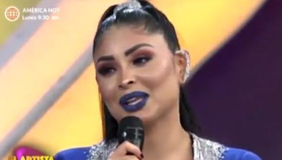Pamela Franco se quiebra al hablar de su hija. (Foto: captura de video)