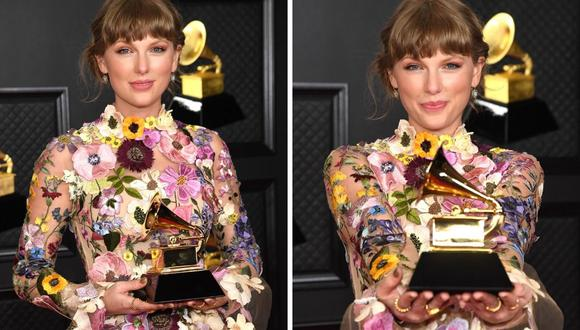 Taylor Swift ha conseguido un hito: se convierte en la primera mujer en ganar tres veces el premio a Disco del Año, algo que pasará a la historia. (Foto: Kevin Mazur / The Recording Academy / AFP)