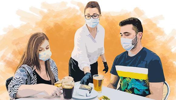 Conforme avanza el proceso de vacunación local, los comensales se animan, cada vez más, a volver a su restaurante favorito. (Ilustración: El Comercio)