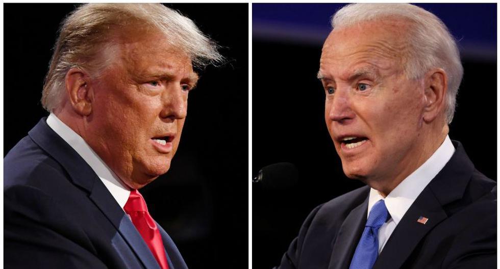 El presidente de Estados Unidos, Donald Trump, y su rival demócrata, Joe Biden, se enfrentaron en un debate en Nashville (Tennessee). (Foto: Bloomberg / AFP)