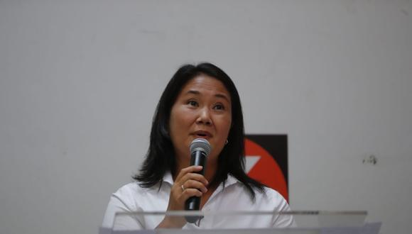 Keiko Fujimori aseguró que su compromiso es abrir las puertas de Fuerza Popular para la segunda vuelta. (Foto: Giancarlo Ávila / @photo.gec)