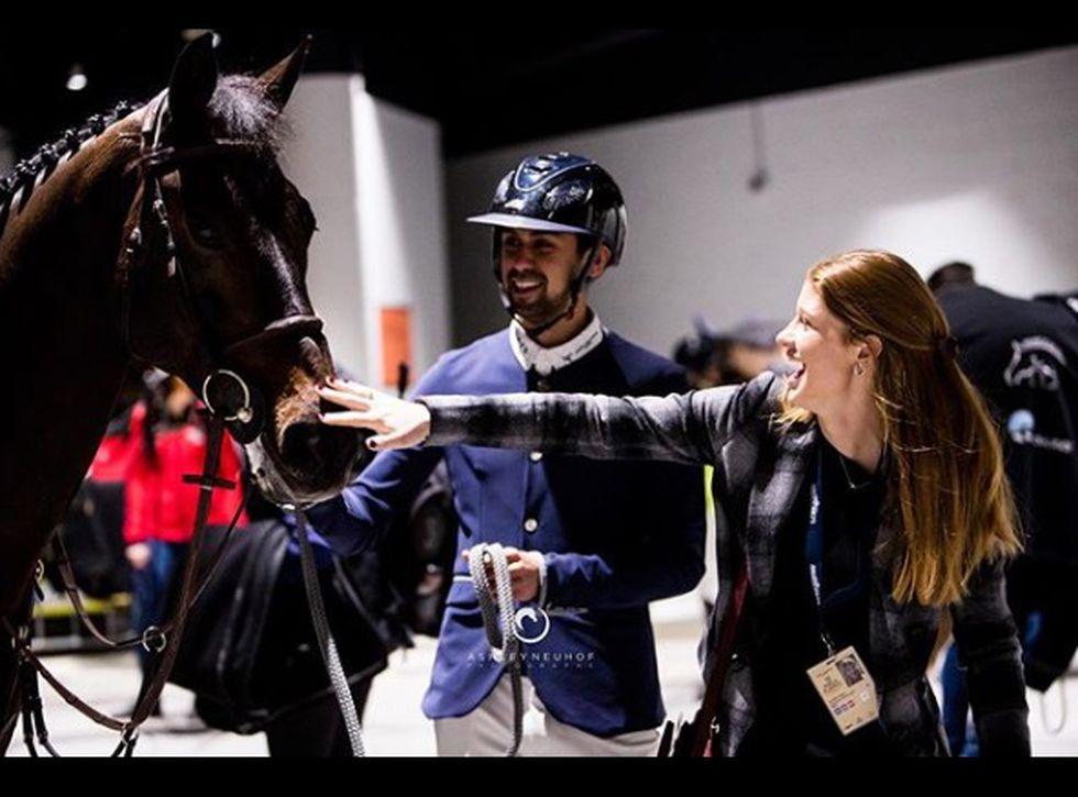 Jennifer Gates und Nayel Nassar teilen dieselbe Leidenschaft: Reiten (Foto: Instagram)