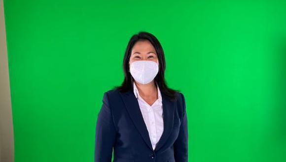 """""""He sido transparente desde el primer momento [sobre el indulto]. Si soy elegida, no será una sorpresa para nadie"""", señaló Keiko Fujimori. (Foto: Twitter de Keiko Fujimori)"""