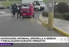 Surco: mototaxista informal atropelló a sereno durante operativo