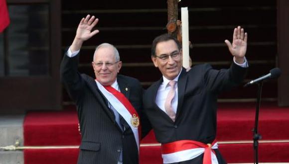 Pedro Pablo Kuczynski y Martín Vizcarra (Foto: Archivo El Comercio)