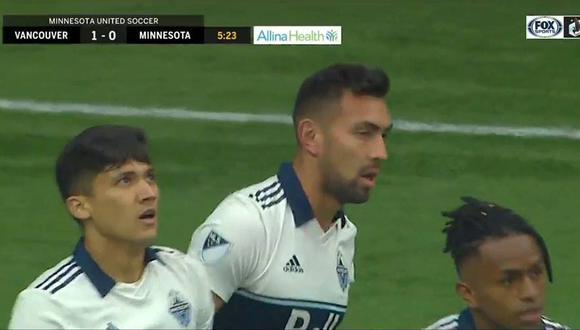 Yordy Reyna y su asistencia para el primer gol de la temporada en la MLS del Vancouver Whitecaps. (Video: captura de pantalla)