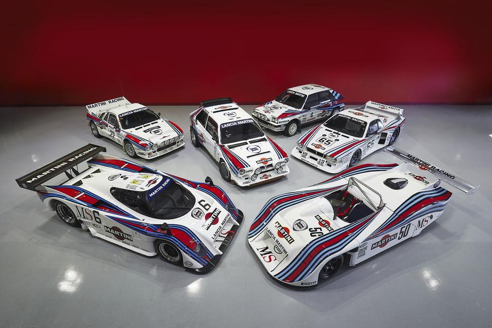 1. La colección de los vehículos de Lancia con los colores de Martini tienen un precio base de US$ 7.5 millones.