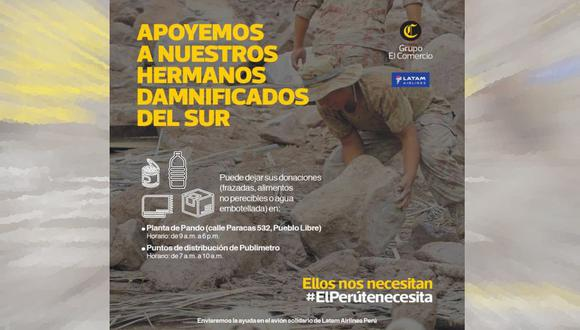 Huaicos en el sur: estos son los centros de acopio de ayuda para damnificados