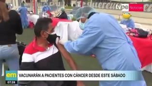 Vacunarán a pacientes oncológicos desde este sábado