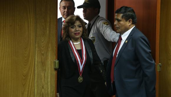 La Junta Nacional de Justicia ingresó a segunda etapa el caso de la  fiscal de la Nación, Zoraida Ávalos, tras admitir a trámite una denuncia interpuesta por su mención en los audios del caso Richard Cisneros . (Foto: Alonso Chero/El Comercio)