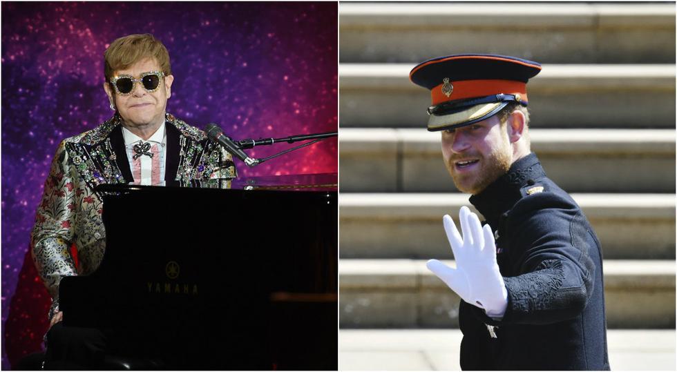 Elton John y el príncipe Harry (Foto: Agencias)