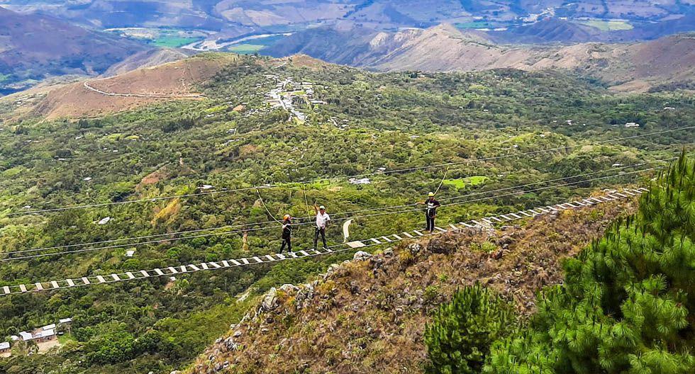 Atrévete a realizar un circuito extremo en Cajamarca. La aventura está asegura con este tour: un columpio extremo (a 15 metros de altura) y un puente tibetano (100 metros de longitud).