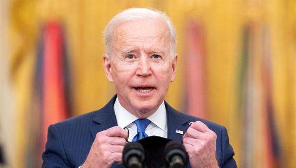 Joe Biden logra una victoria con aprobación en el Congreso de Estados Unidos del plan de estímulo por US$1,9 billones. (FE/EPA/KEVIN DIETSCH).