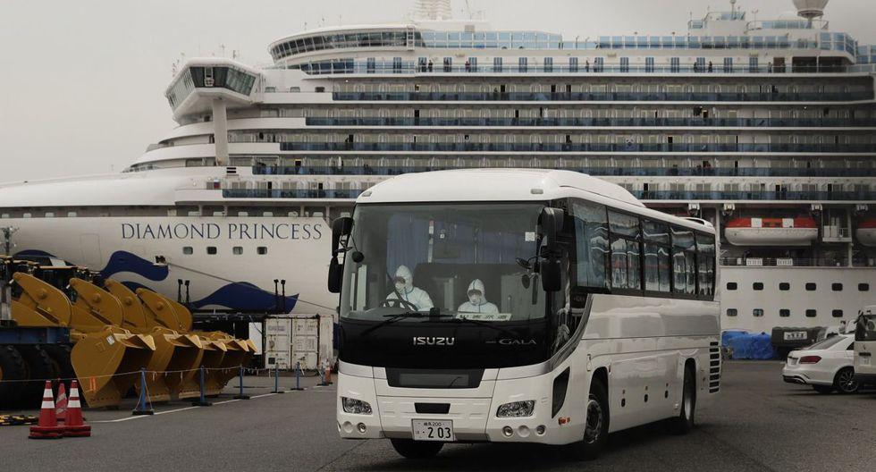 Esta cifra, resultado de 217 pruebas suplementarias, eleva a 285 el número de pasajeros y miembros de la tripulación del Diamond Princess contagiados con el nuevo coronavirus, sin contar a una oficial en cuarentena que también contrajo la enfermedad. (AP).