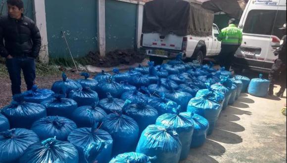Puno: incautación de 744 kilos de hoja de coca casi termina en un enfrentamiento