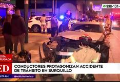 Surquillo: Conductores protagonizan accidente de tránsito