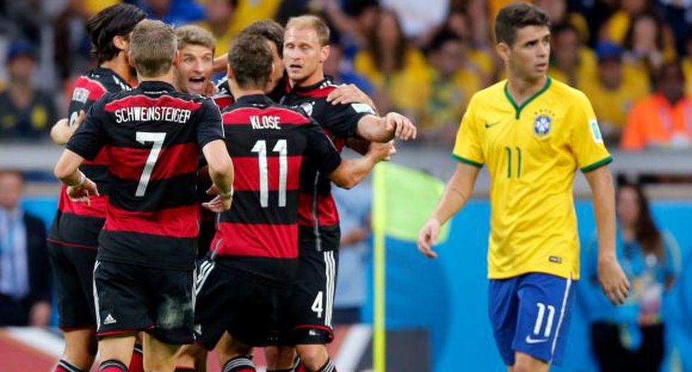 Alemania finalista: humilló 7-1 a Brasil en el Mineirao