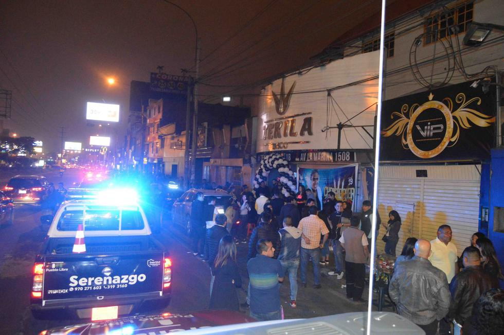 La Municipalidad de Pueblo Libre de la mano de la Policía Nacional llevaron a cabo un sorpresivo megaoperativo en las discotecas y bares de la avenida La Marina. (Municipalidad de Pueblo Libre)