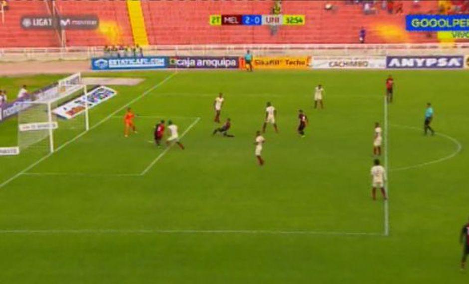 Universitario vs. Melgar EN VIVO: Cuesta aprovechó displicencia de zaga crema y marcó 2-0 por Liga 1 | VIDEO. (Video: Gol Perú / Foto: Captura de video)