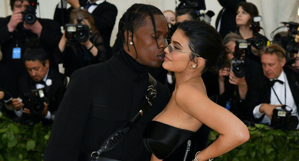 Travis Scott y Kylie Jenner  (Foto: AFP)