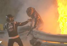 F1: Romain Grosjean se salva de la muerte luego de que su vehículo estalle y sea rescatado de las llamas | VIDEO