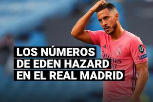 Los números de Eden Hazard desde su llegada al Real Madrid