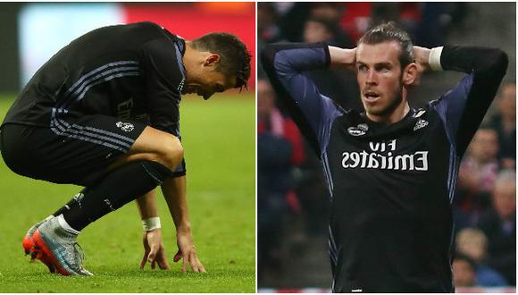 No todo fue alegría: Cristiano y Bale terminaron lesionados