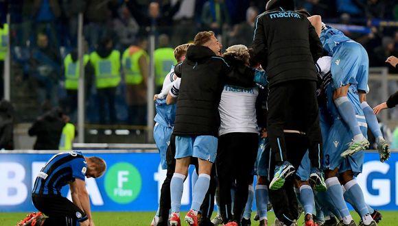 En el estadio Olímpico de Roma, Lazio venció 2-0 al Atalanta y se coronó campeón de la Copa Italia 2018-2019. (Foto: AFP)