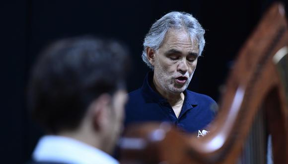 """Andrea Bocelli anunció el lanzamiento su nuevo álbum """"Believe"""". (Foto: AFP/Miguel Medina)"""