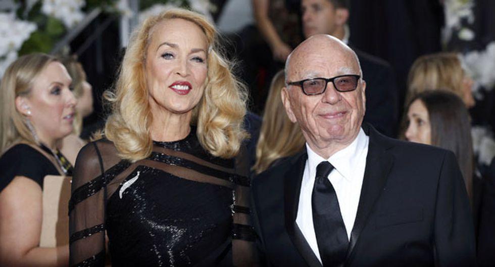 Ex de Mick Jagger se casará con magnate Rupert Murdoch