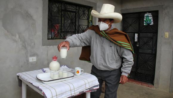Pedro Castillo declaró desde su casa ubicada en la comunidad de Chugur, en Anguía. Foto: Alex Vásquez Requejo