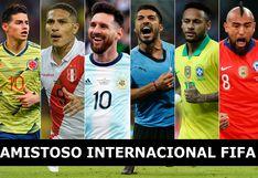 Fixture de Amistosos FIFA: fecha, horas, canales y estadios de todos los partidos en el mundo