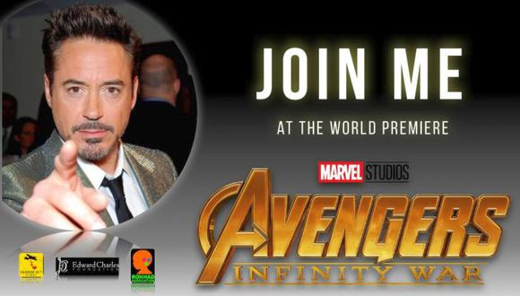 """Descubre una forma de legar al estreno de """"Avengers:  Infinity War"""" de la mano de uno de los protagonistas.  (crowdrise.com)"""
