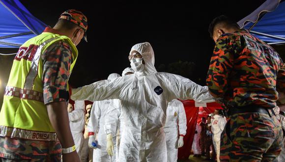 El Covid-19 es ya una pandemia. (Foto: Muzzafar Kasim / Malaysia's Ministry of Health / AFP)