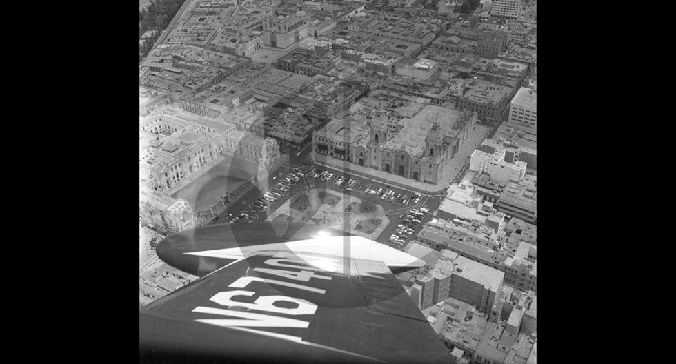 Así se veía el centro de Lima desde el cielo en 1960 - 6