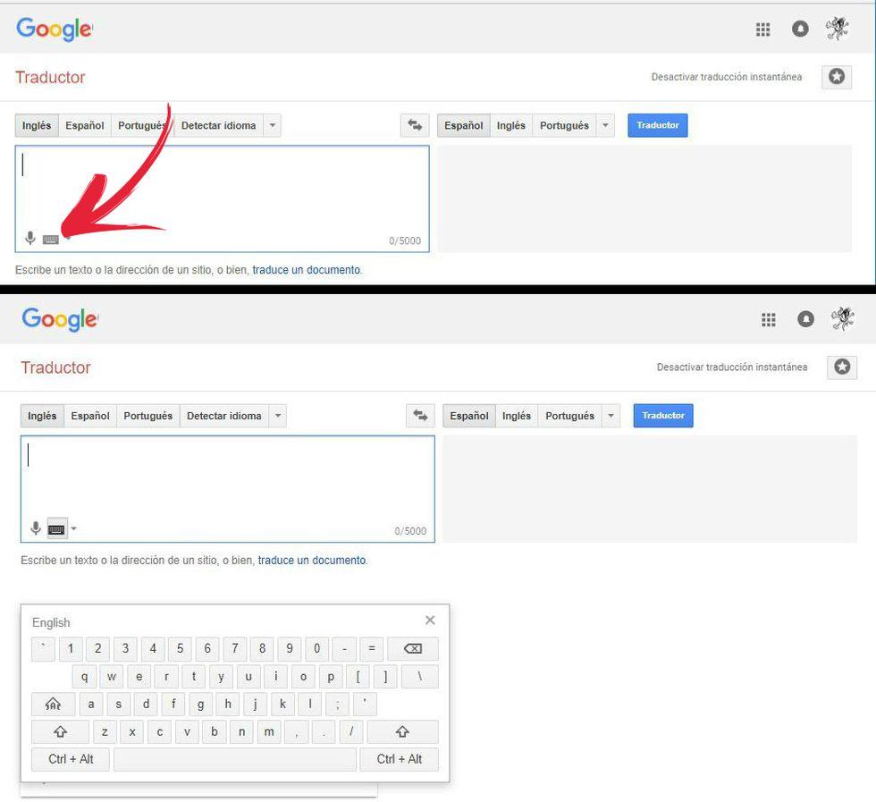 Así puedes activar y empezar a utilizar el teclado virtual de Google Traductor. (Foto: Google Traductor / El Comercio)