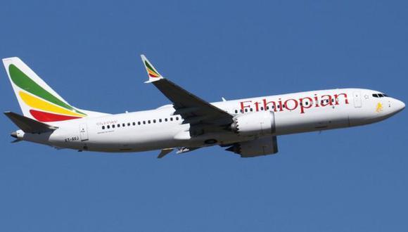 Uno de los aviones accidentados fue un Boeing 737 MAX 8 de Ethiopian Airlines (foto de archivo).