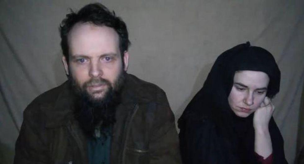 Rehenes occidentales de los talibanes piden ayuda en un video