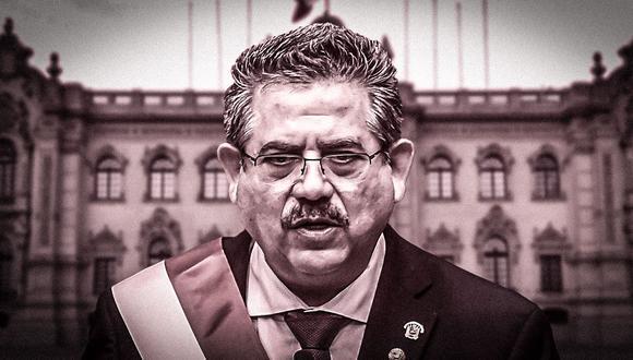 Manuel Merino estuvo seis días en el cargo (Composición: El Comercio)