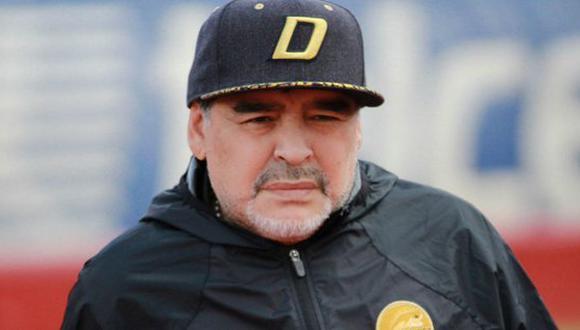 Diego Maradona aseguró que el mejor regalo de cumpleaños será el nacimiento de su nieto. El otrora '10' de Argentina actualmente se desempeña como estratega de Dorados de Sinaloa. (Foto: AFP)