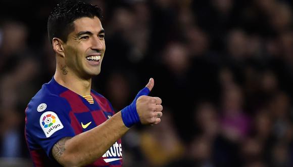 Luis Suárez felicitó a Barcelona por salir campeón de la Copa del Rey. (Foto: AFP)