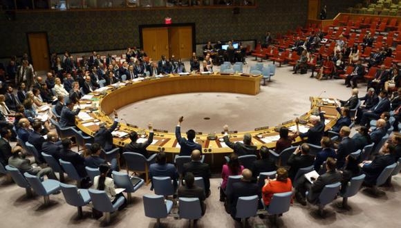 El Consejo de Seguridad de las Naciones Unidas en una reunión sobre amenazas a la paz y la seguridad internacionales el 21 de septiembre de 2017 en la Misión de los Estados Unidos en Nueva York. (Foto: DON EMMERT / AFP)
