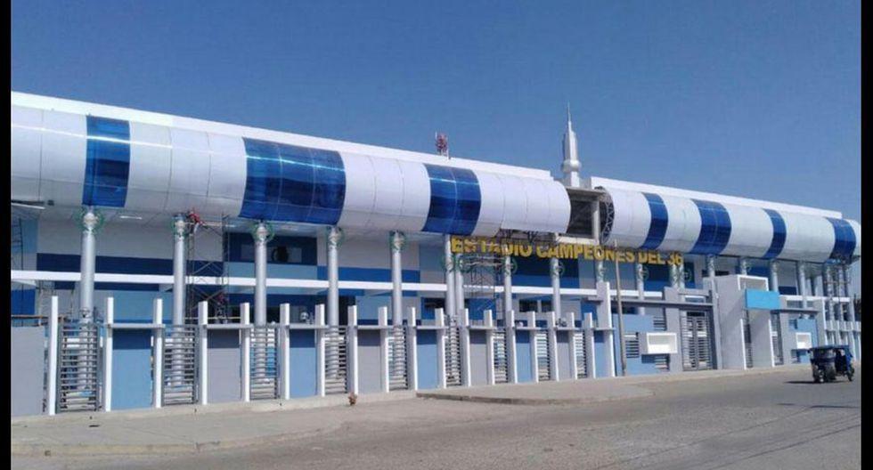 El estadio Campeones del 36 de Sullana ha sido acondicionado para la atención de pacientes con coronavirus. (Foto: GEC)