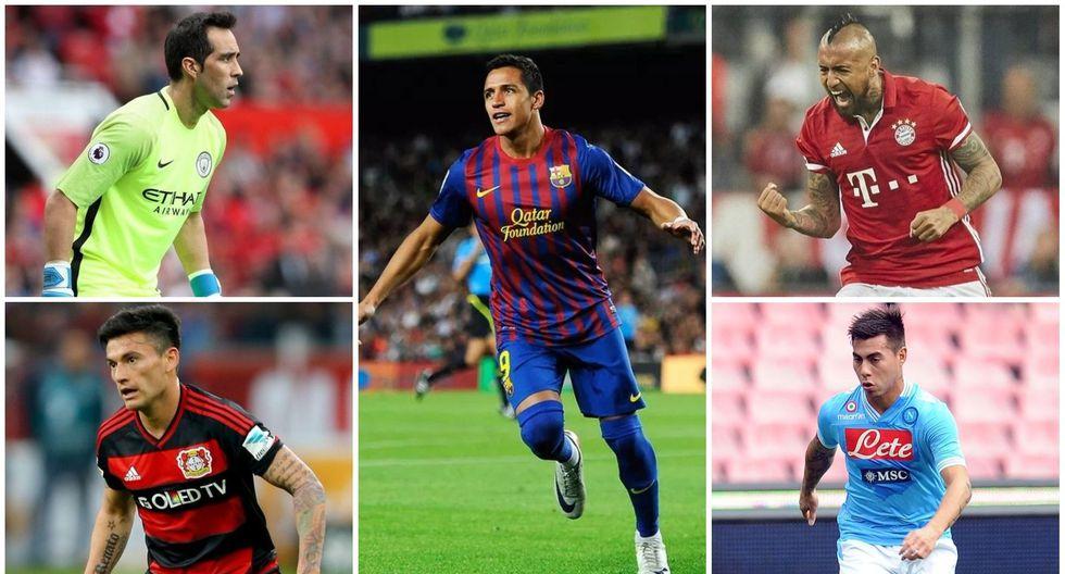 El delantero Alexis Sánchez es el futbolista chileno con mayor valor de transacción.  Su pase del FC Barcelona al Arsenal de Inglaterra costó 42.5 millones de euros. (Foto: agencias)