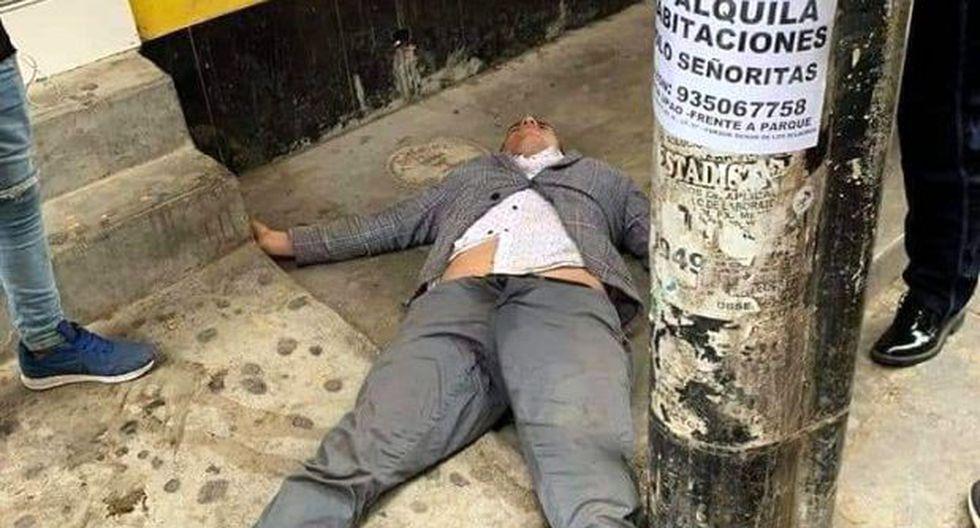 """Sánchez Rubio fue encontrado por personal de serenazgo de la Municipalidad de Trujillo """"en aparente estado inconsciente y tirado en la vereda del local restobar"""" (Foto: cortesía)"""