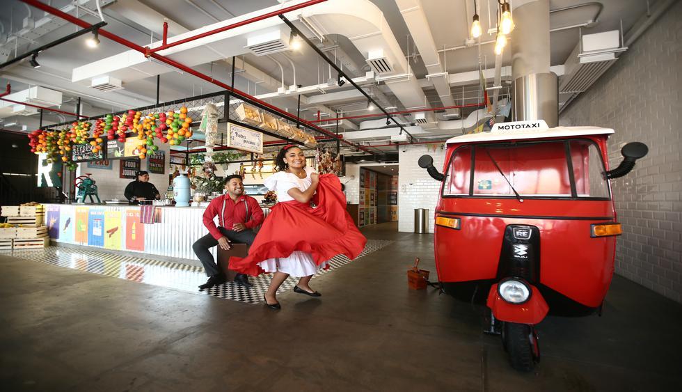 """En la zona del mercado """"The Taste of Perú"""", además de probar la sazón de los caseros, bailarás al ritmo del festejo o huaylas. (Foto: Jesús Saucedo)."""