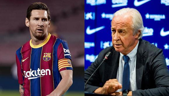 Lionel Messi recibió un mensaje de Carles Tusquets, el presidente interino del Barcelona. (Fotos: EFE/AFP)